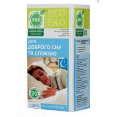 """Чай """"Для доброго сну та спокою"""" ТМ """"Чиста флора"""" (20 пакетів)"""