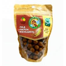 """Драже """"Цілюща бджілка"""" Мед+Пилок+Женьшень 150 г"""