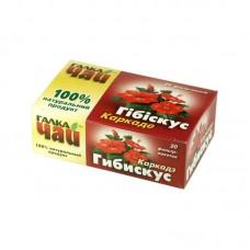 """Чай """"Гібіскус"""" (Каркаде) ТМ """"Галка Чай"""" (20 пакетів)"""